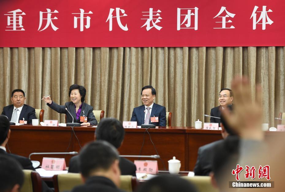 全国人大重庆团举行全体会议