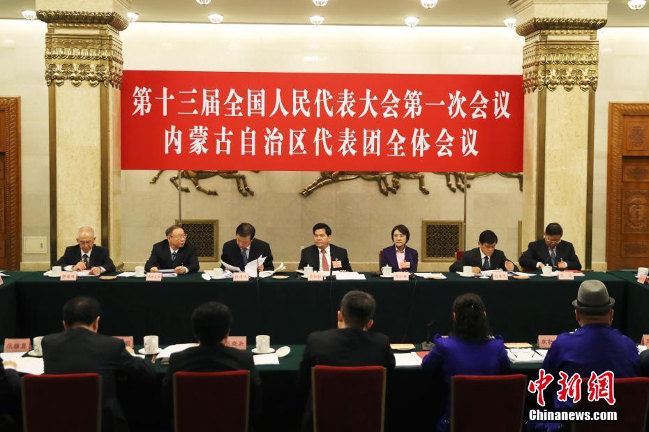 全国人大内蒙古自治区代表团举行全体会议 审议政府工作报告