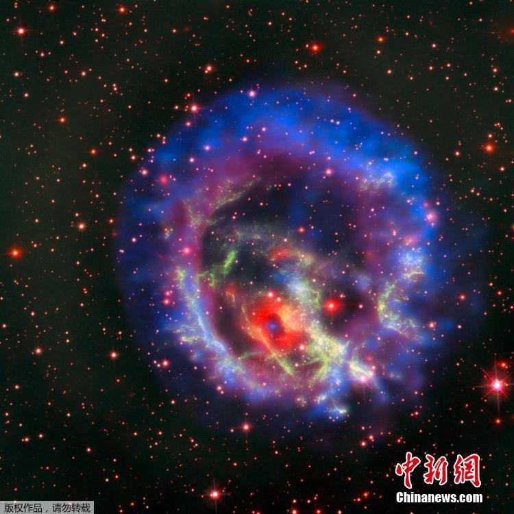欧洲南方天文台发布小麦哲伦星云气体图
