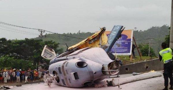 印尼一架直升机坠毁导致人员伤亡 机上有6名中国人